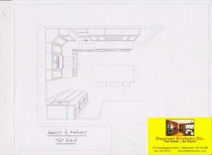 Custom kitchen project sketch