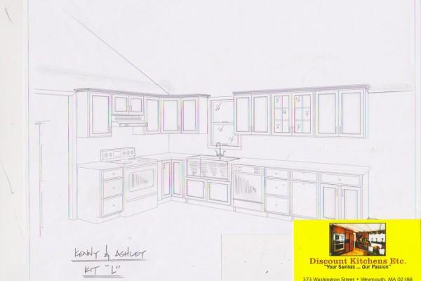Custom kitchen project sketch