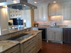 Custom Kitchen Remodel with stove top and cabinets